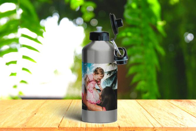 Alu-Trinkflasche Design von Links