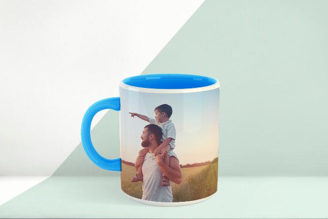 Zweifarbtasse Design Blau