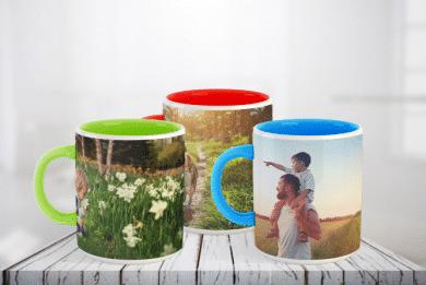 Farbige Fototasse selbst Gestalten bei Fotoland24