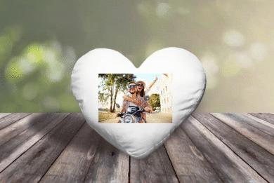 Herzkissen mit Foto selbst gestalten