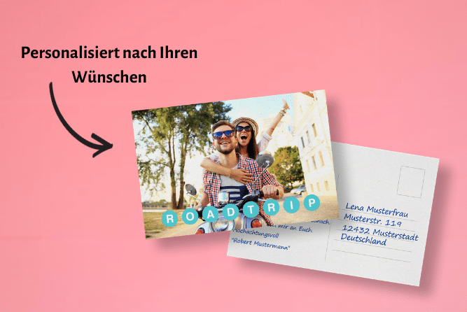 Postkarte im Selbstversand Design Rechts