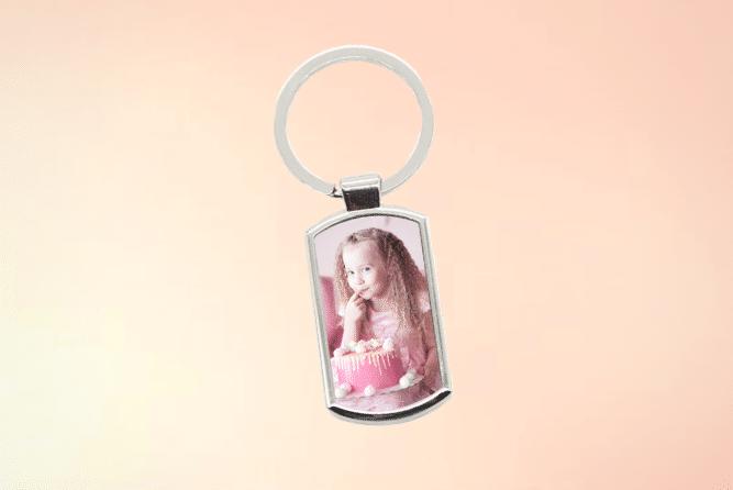 Schlüsselanhänger mit Foto Design Rechts