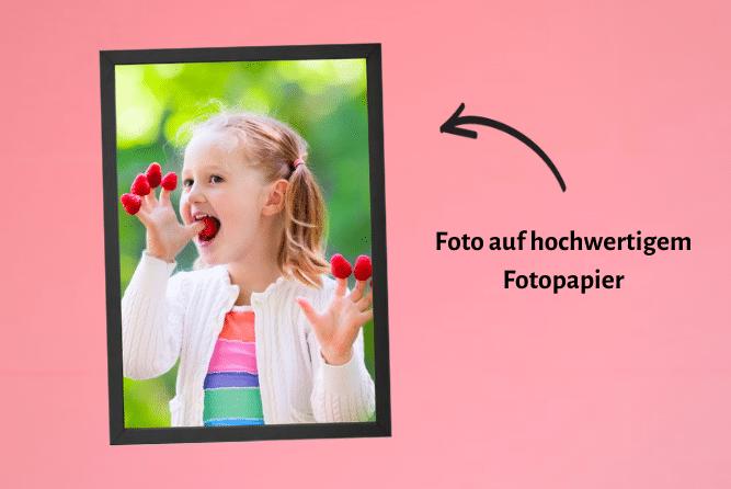 Foto im Rahmen Schwarz Design Links
