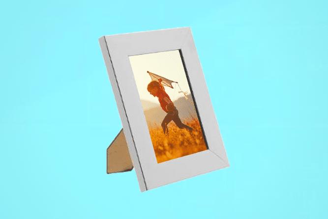 Portraitrahmen 10×15cm Silber inkl. Foto selbst Gestalten