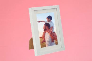 Portraitrahmen 13×18cm Weiß inkl. Foto selbst Gestalten