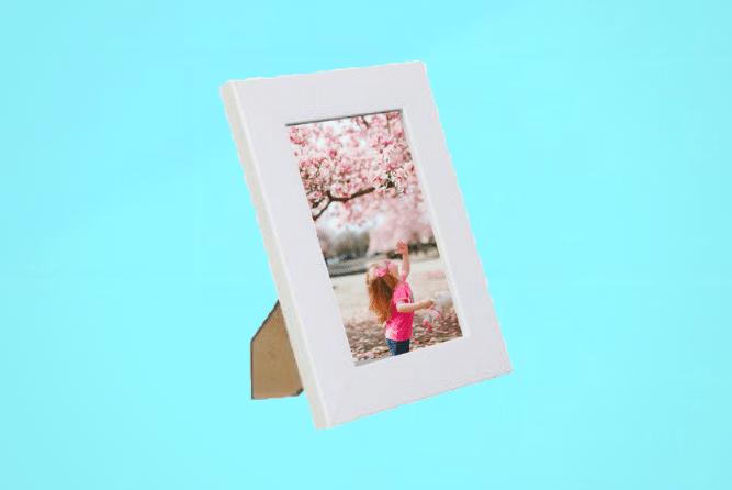 Portraitrahmen 10×15cm Weiß inkl. Foto selbst Gestalten