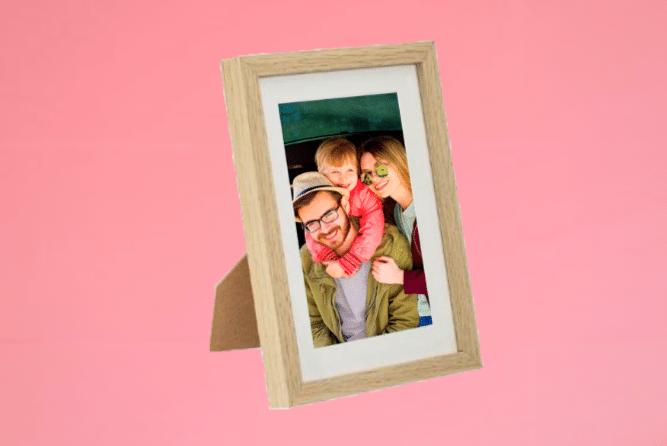 Portraitrahmen 13×18cm Eiche inkl. Foto selbst Gestalten