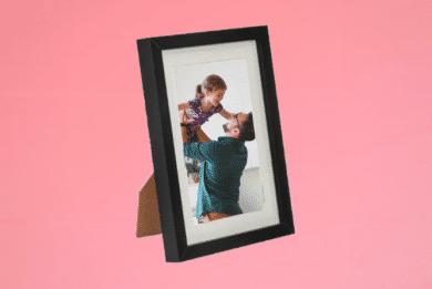 Portraitrahmen 13×18cm Schwarz inkl. Foto selbst Gestalten