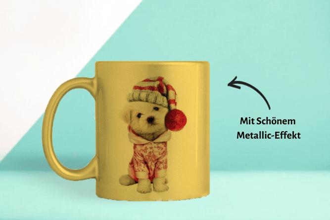 Fototasse mit Metallic Effekt Design von Links