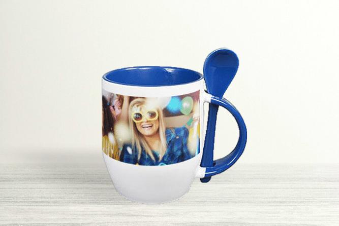 Kaffeebecher mit Löffel Design Links