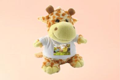 Kuscheltier Giraffe mit Foto selbst Gestalten