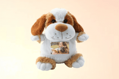 Kuscheltier Hund mit Foto selbst Gestalten
