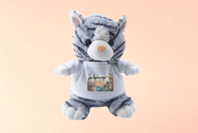 Kuscheltier Katze mit Foto selbst Gestalten