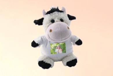 Kuscheltier Kuh mit Foto selbst Gestalten