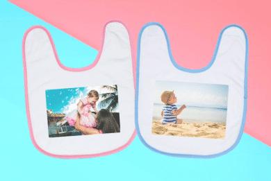 Premium Baby Lätzchen mit Foto Selbst Gestalten