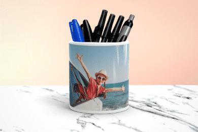 Stiftehalter mit Foto selbst Gestalten