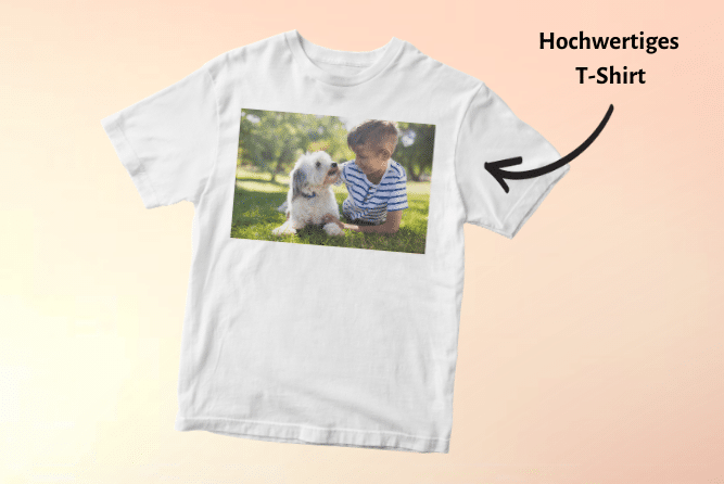 Kinder T-Shirt mit Foto Design Rechts